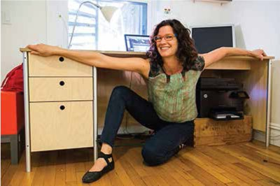 The Kineticist and her desk